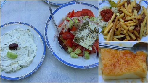 Tadziki, Souvlaki, Grčija, potovanje z avtom po Grčiji, popotniški blog