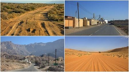 Oman, ceste, puščava, mesta, potovanje, popotniški blog