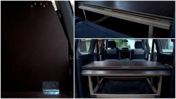 Postelja v avtu, avto za potovanja, popotniški blog