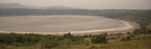 Afrika, Uganda, Queen Elizabeth narodni park, vulkansko jezero, safari, potovanje, popotniški blog