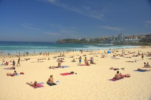 avstralija potovanje, sydney znamenitosti, surfanje, bondi beach