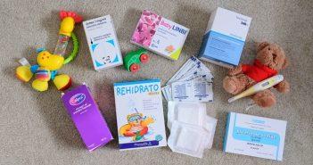 potovalna lekarna za dojenčka, zdravila dojenčka na potovanju