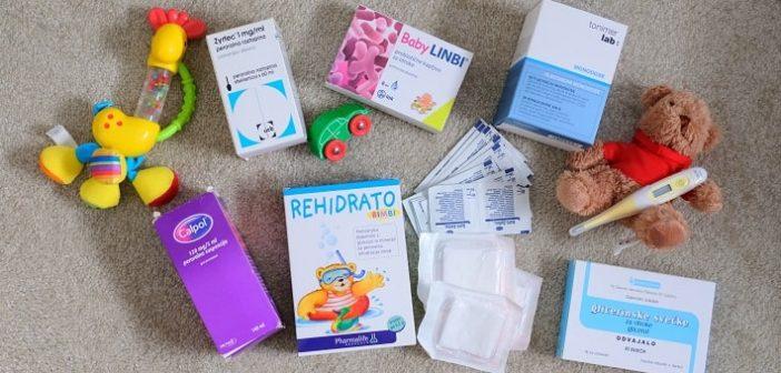 Potovalna lekarna za dojenčka