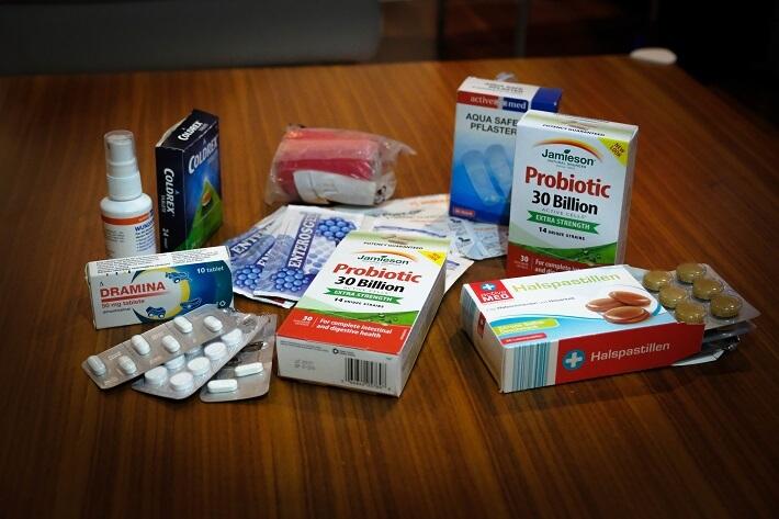 potovalna lekarna, popotniška lekarna, probiotiki jamieson