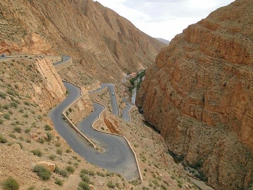 kanjoni, Dades,Maroko, potovanje,znamenitosti