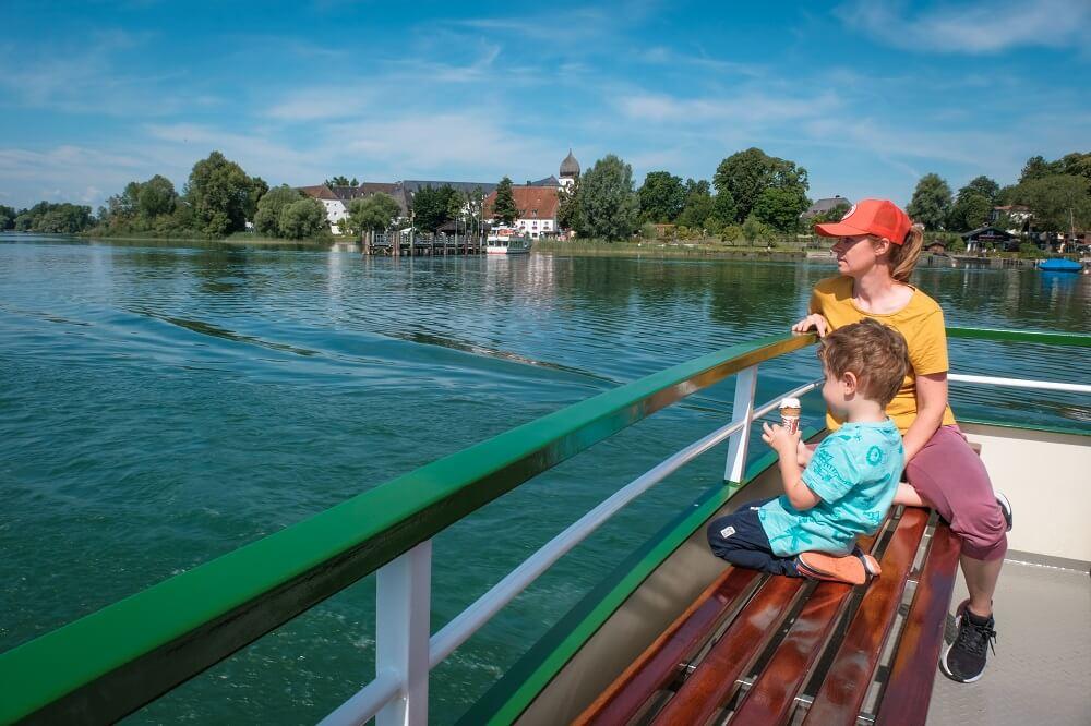 Nemčija potovanje, jezero Chiemsee, Chiemsee Nemčija