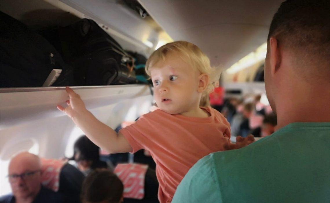 Na letalu z otrokom, prvič na letalu