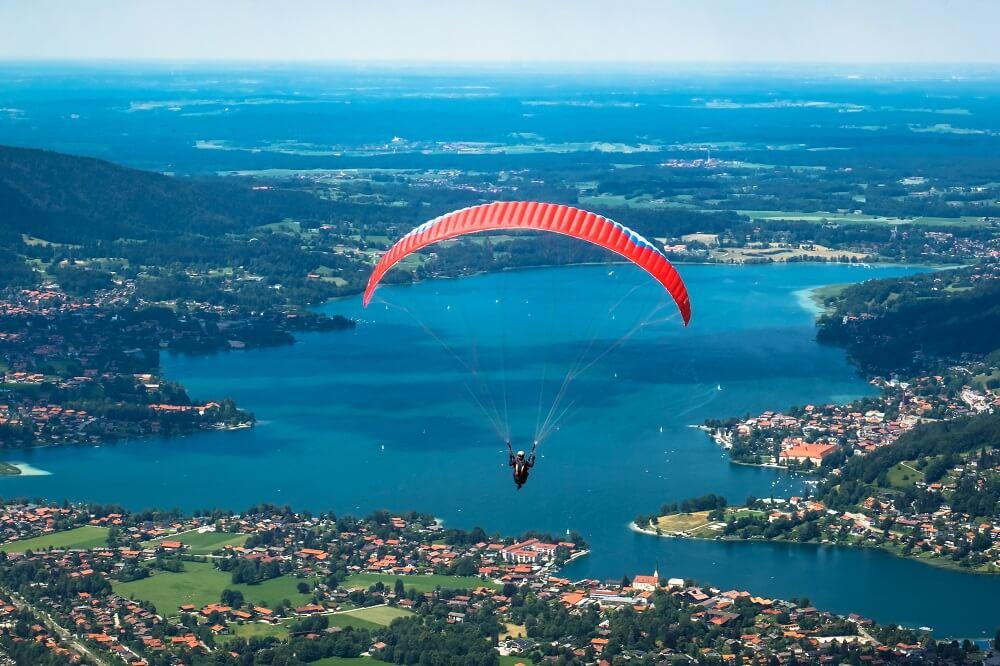 Jezero Tegernsee na Bavarskem, Nemčija